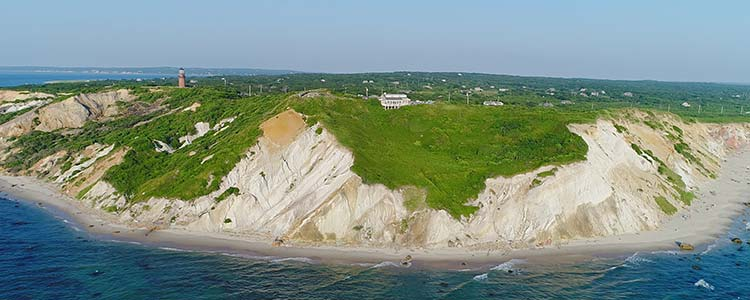 aquinnah cliffs aerial