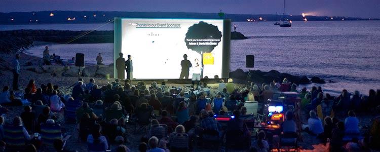 outdoor movie watch beach