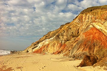Martha's Vineyard Aquinnah Gay Head beach and clay cliffs