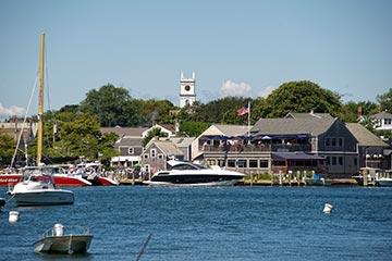 Edgartown harbor in the summer