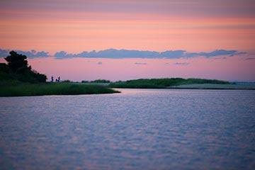 pink sunset Edgartown pond Martha's Vineyard