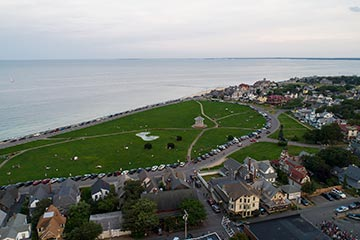 Oak Bluffs ocean park drone view