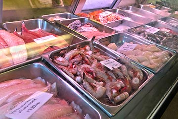 seafood store prices fish shrimp scallops