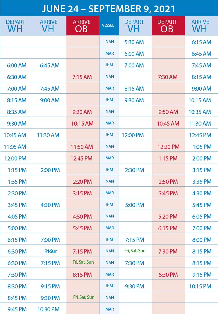 schedule june to sept