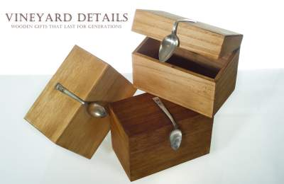 wooden recipe boxes