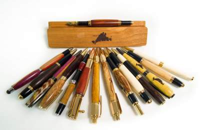 custom made wooden pens