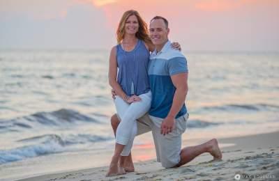 family photography sunset beach