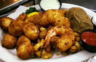 fried seafood plate