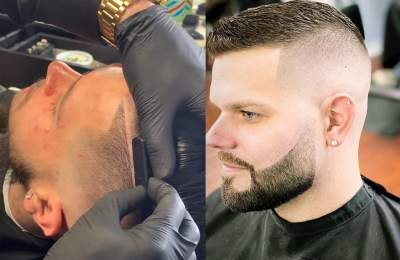 men's hair line up beard and shaving