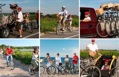 biking on vineyard