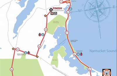 20 miles run race map