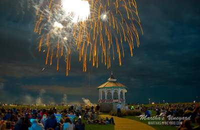 gazebo oak bluffs fireworks